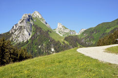The Dent d'Oche mount in France Stock Photography