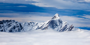 The Dent d'Hérens is a mountain in the Pennine Alps, lying on t Stock Photos