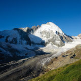 Dent d'H�rens. Mountain peak view from Schoenbielhuette, Zermatt, Switzerland Royalty Free Stock Photos