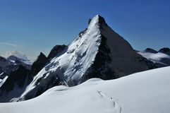 Dent d'Herens North Face Stock Photography