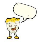 dent de bande dessinée avec la bulle de la parole Images libres de droits