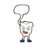 dent de bande dessinée semblant suffisante avec la bulle de la parole Image libre de droits