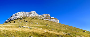 Dent de Crolles. A rocky mountain in Chartreuse near Grenoble Royalty Free Stock Image