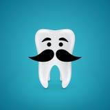 Dent de sagesse moustachue Image stock
