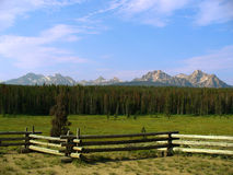 dent de scie de montagnes de l'Idaho Image stock