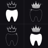 Dent and diamond crown. abstraction, logo. Vector Stock Image