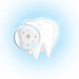 Dent diminuée Illustration de Vecteur