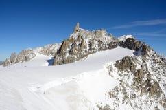 Dent du Geant, macizo de Mont Blanc, Italia imagen de archivo