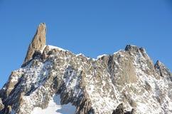 Dent du Geant, macizo de Mont Blanc, Italia imagenes de archivo