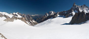 Dent du Geant and mer de glace - Royalty Free Stock Photography
