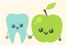 Dent et pomme Image libre de droits