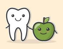 Dent et pomme saines Photo libre de droits
