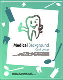 Dent Medic Background. Abstract background medical template proposal poster or ad Stock Images