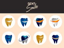 Dent Smile. This 100% vector base unique design set of smile tooth. Scale-able Any size Stock Photos