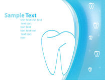 Dental. Medical form or logo Royalty Free Stock Images