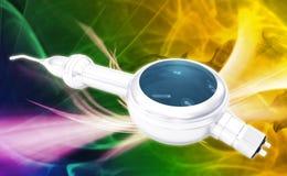 Dental Air Polisher Handpiece. Digital illustration of a Dental Air Polisher Handpiece in colour background Stock Images