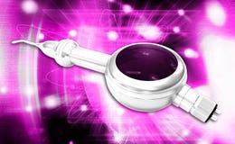 Dental Air Polisher Handpiece. Digital illustration of a Dental Air Polisher Handpiece in coloured background Stock Photos