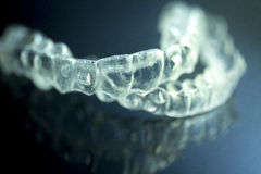 Dental aligners tooth brackets invisible braces Royalty Free Stock Image