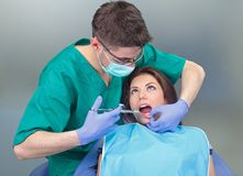 Dental anesthesia. Picture of a dental anesthesia before the treatment Stock Photo