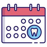 Dental appointment LineColor stock illustration