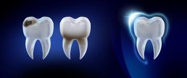 Dental background. 3d illustration. Vector Illustration