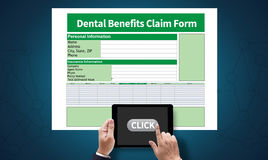 Dental Benefits Claim Form Document Dental Royalty Free Stock Photography