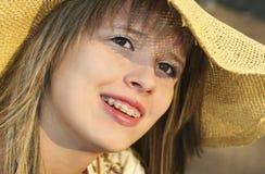 Dental brekity. Portrait of beautiful girls in brekitah royalty free stock photography