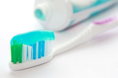 Dental brush with a tooth-paste Royalty Free Stock Images