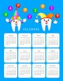 Dental calendar. Royalty Free Stock Photos