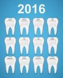 Dental calendar 2016 year. Stock Image