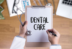 DENTAL CARE Beautiful woman with toothbrush  , Healthy smile and Royalty Free Stock Image