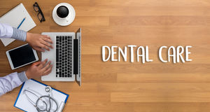 DENTAL CARE Beautiful woman with toothbrush  , Healthy smile and Royalty Free Stock Photography