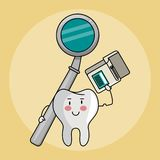 Dental care cartoons royalty free illustration