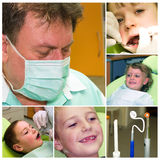Dental care collage Stock Photography
