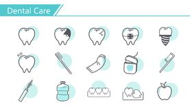 Dental care concept Icon royalty free illustration