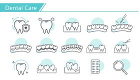 Dental care concept Icon stock illustration