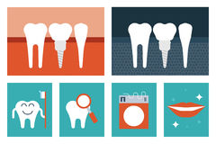 Dental care concept Stock Images