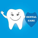 Dental care design concept. Human tooth, smile. Stock Images