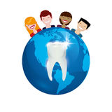 Dental care design Royalty Free Stock Images