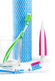 Dental care equipment white background. Stock Photography