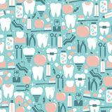 Dental Care Graphics on Blue Background Royalty Free Stock Photos