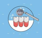 Dental care and hygiene. Elements cartoons vector illustration graphic design royalty free illustration
