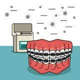 Dental care and hygiene. Elements cartoons vector illustration graphic design vector illustration