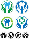 Dental care icon set Royalty Free Stock Image