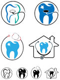 Dental care icon set Stock Photo