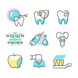 Dental Care Icons Royalty Free Stock Photo