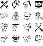 Dental care icons Stock Photos