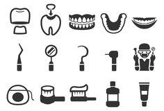 Free Dental Care Icons - Set 2 Royalty Free Stock Images - 89976309