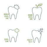 Dental care icons set Royalty Free Stock Image
