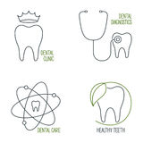 Dental care icons set Royalty Free Stock Photography